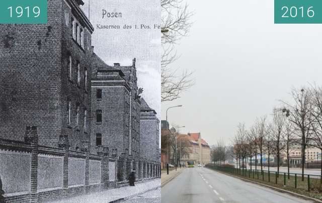 Before-and-after picture of Solna Street (Magazinstrasse) between 1919 and 2016
