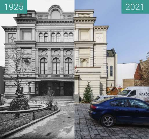 Before-and-after picture of Ulica 27 Grudnia, Teatr Polski between 1925 and 2021-Feb-20