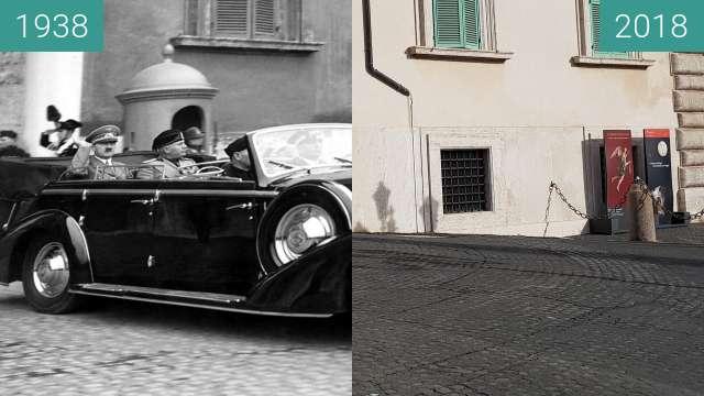 Vorher-Nachher-Bild von Quirinale building in Rome, 1938 -2018 zwischen 04.05.1938 und 05.01.2018