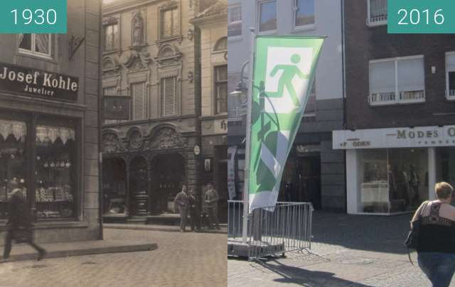 Before-and-after picture of Essener Straße between 1930 and 2016-Aug-27
