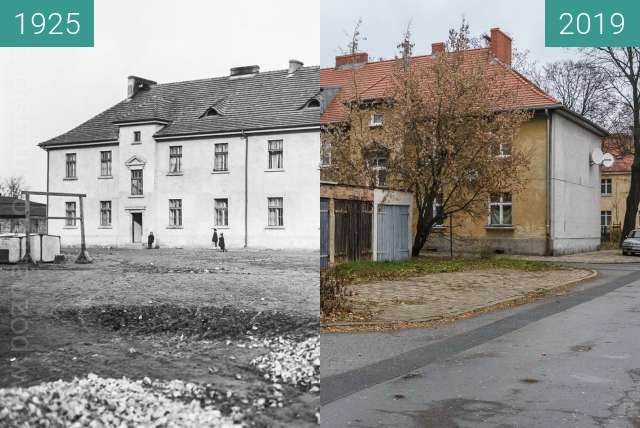 Before-and-after picture of Ulica Andrzejewskiego between 1925 and 2019-Dec-02