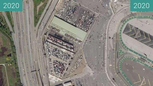 Vorher-Nachher-Bild von San Francisco Airport zwischen 09.02.2020 und 30.03.2020