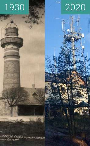 Before-and-after picture of Plzeň - Krkavec between 1930 and 2020-Dec-30