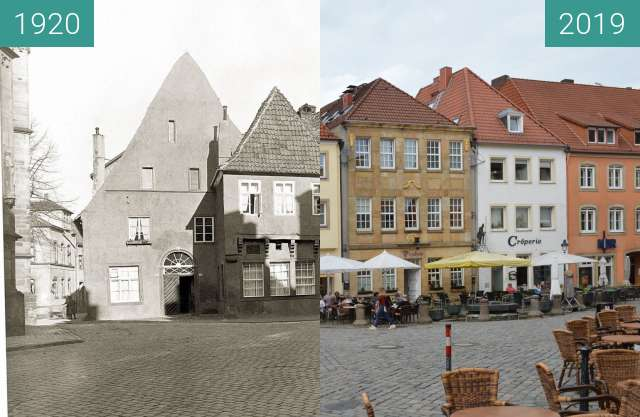 Before-and-after picture of Markt Osnabrück between 1920 and 2019-Jun-03