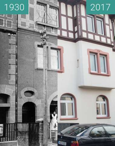 Before-and-after picture of Bad Homburg Gonzenheim, Frankfurter Landstr 110 between 1930 and 2017-Oct-03