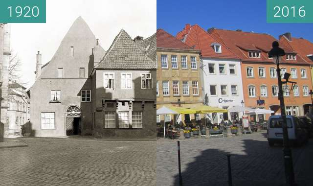 Before-and-after picture of Houses at market square between 1920 and 2016-Aug-31