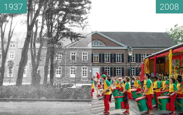 Before-and-after picture of Stolberg Rhld Kaiserplatz between 1937 and 2008-Jun-15