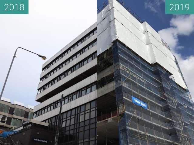 Vorher-Nachher-Bild von Colville Building renovation, Glasgow zwischen 19.11.2018 und 03.05.2019