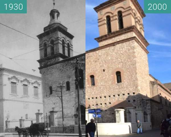 Before-and-after picture of Compañia de Jesus between 1930-Mar-13 and 2000