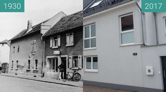 Before-and-after picture of Bad Homburg Gonzenheim, Frankfurter Landstr 128 between 1930 and 2017-Oct-03