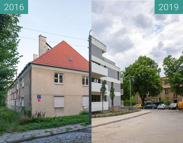 Before-and-after picture of Ulica Drzymały between 2016-Aug-24 and 2019-May-21