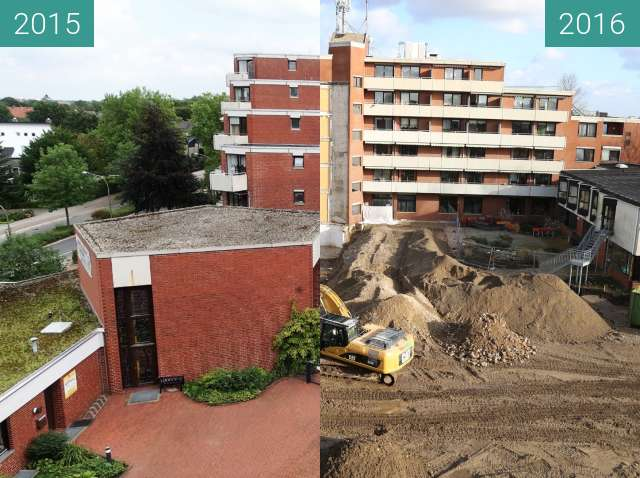 Before-and-after picture of Bischof-Lilje-Heim between 2015-Aug-24 and 2016-Jan-28