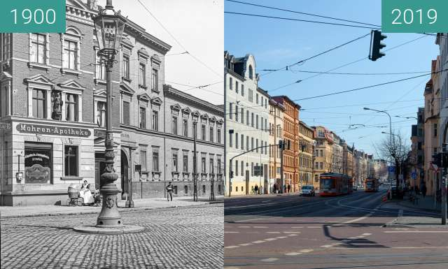 Before-and-after picture of Riehm 133 Reileck between 1900 and 2019-Mar-20