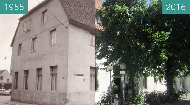 Before-and-after picture of Grüner Jäger between 1955 and 2016-Jul-18