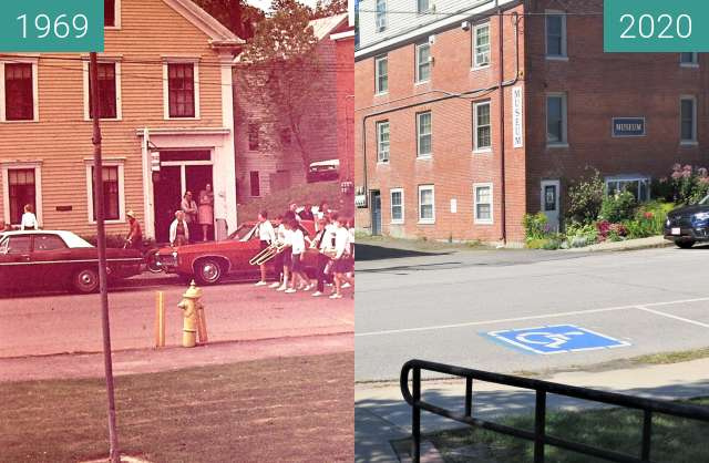 Before-and-after picture of Memorial Day Belfast, Maine between 1969-May-30 and 2020-Sep-04