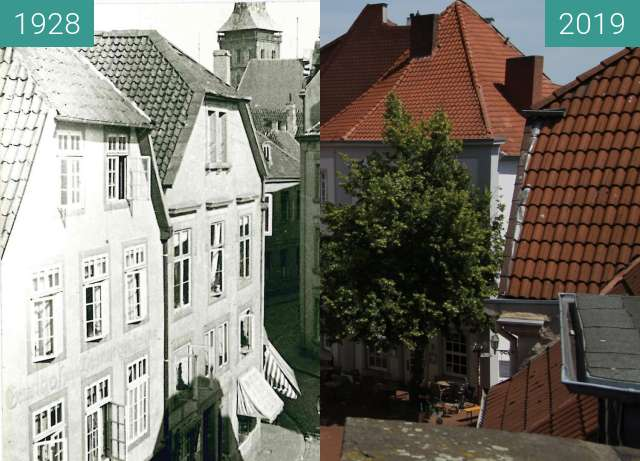 Before-and-after picture of Altstadt between 1928 and 06/2019