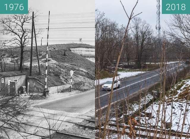 Vorher-Nachher-Bild von Przejazd kolejowy przez ulicę Lutycką zwischen 1976 und 21.01.2018