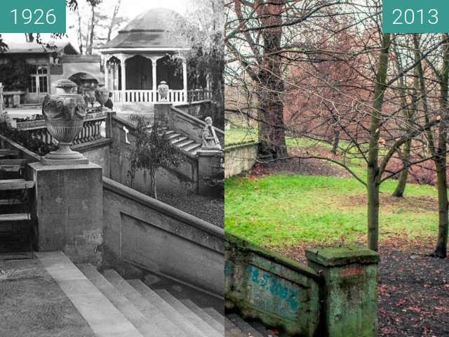 Before-and-after picture of Park Szelągowski between 1926 and 2013-Nov-30