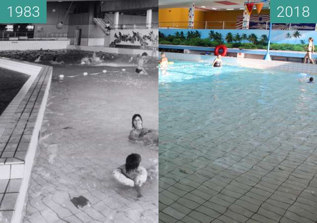 Before-and-after picture of Swimming Pool Hoornse Vaart in Alkmaar between 1983 and 2018-Mar-29