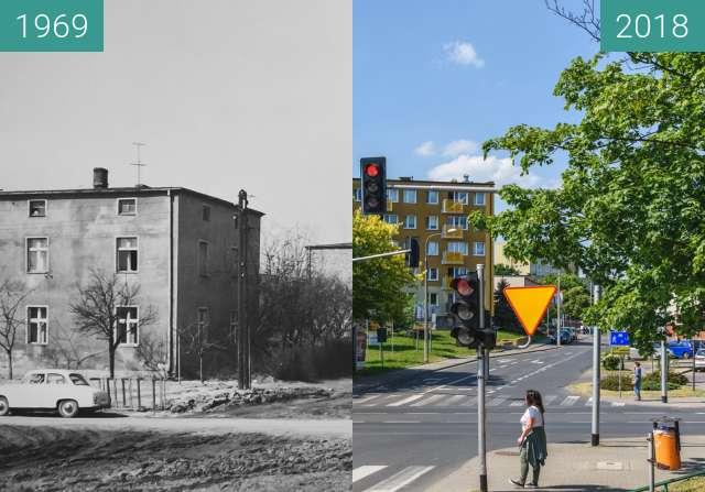 Vorher-Nachher-Bild von Ulica Zagonowa zwischen 1969 und 2018