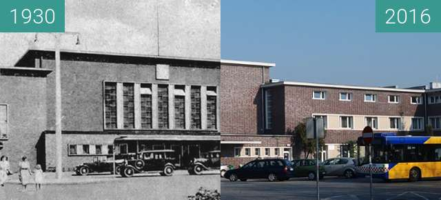 Before-and-after picture of Bahnhof between 1930 and 2016