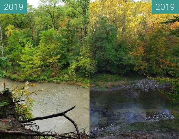 Vorher-Nachher-Bild von Creek zwischen 03.10.2019 und 09.10.2019