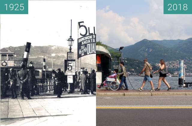 Before-and-after picture of Ferry 5 lire between 1925 and 2018