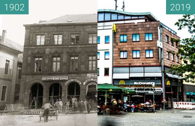 Before-and-after picture of Nikolaiort between 1902 and 2019-Jun-19