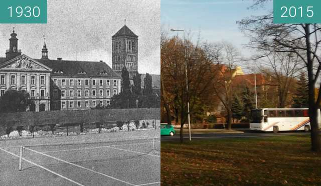 Before-and-after picture of Soetbeerring (Bolesława Krzywoustego) between 1930 and 2015