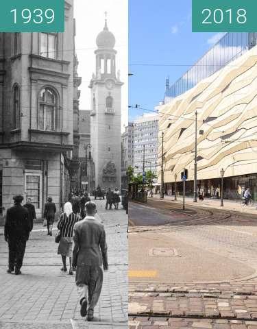 Vorher-Nachher-Bild von Aleje Marcinkowskiego zwischen 1939 und 2018