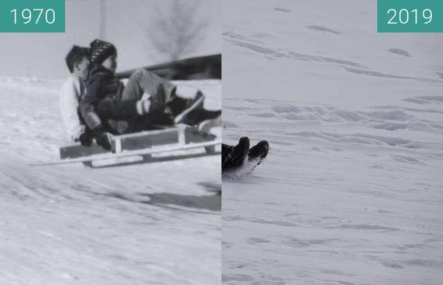 Vorher-Nachher-Bild von Sledding at YBGR zwischen 1970 und 2019