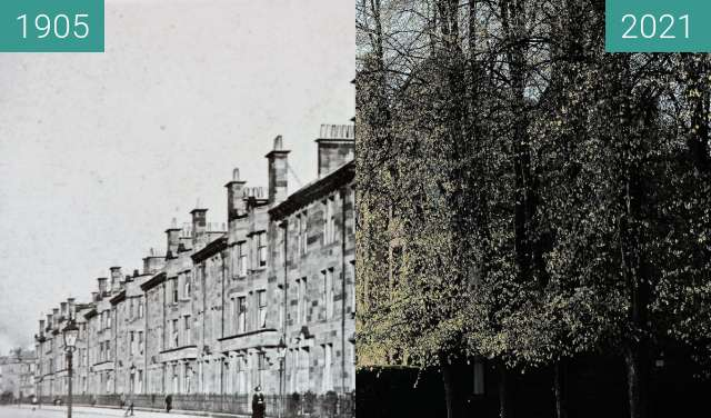 Before-and-after picture of 17-57 Fotheringay Road between 1905 and 2021-May-02