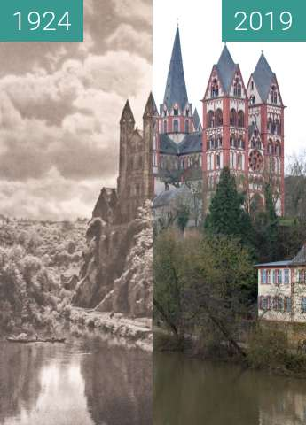 Before-and-after picture of Dom zu Limburg an der Lahn, 1924 between 1924 and 2019-Dec-26