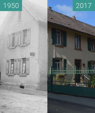 Before-and-after picture of Gonzenheim, Alt Gonzenheim 14 between 1950 and 2017-Oct-01
