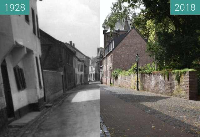 """Vorher-Nachher-Bild von Kempen, ehemaliges Stadttor """"Kuhtor"""" zwischen 1928 und 10.07.2018"""