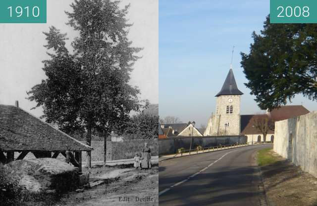 Before-and-after picture of Lavoir d'en haut between 1910 and 2008-Jan-26