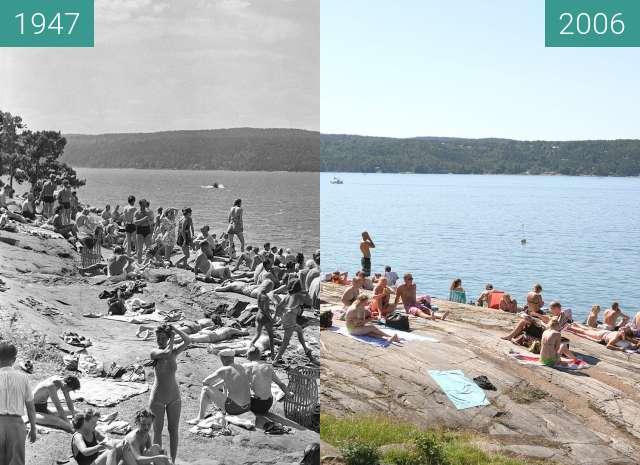 Vorher-Nachher-Bild von Ingierstrand zwischen 1947 und 2006