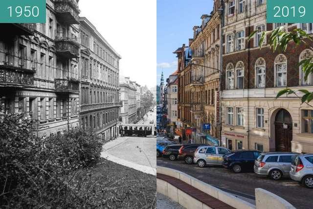 Vorher-Nachher-Bild von Ulica Ogrodowa zwischen 1950 und 2019