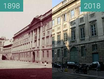 Vorher-Nachher-Bild von Palazzo Belgioioso zwischen 1898 und 2018