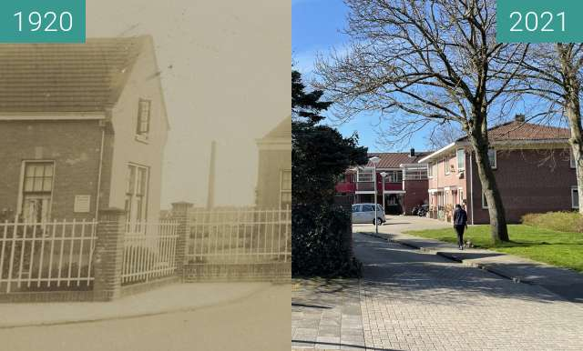 Before-and-after picture of Rijks Tuinbouw-Winterschool between 1920 and 2021-Mar-30