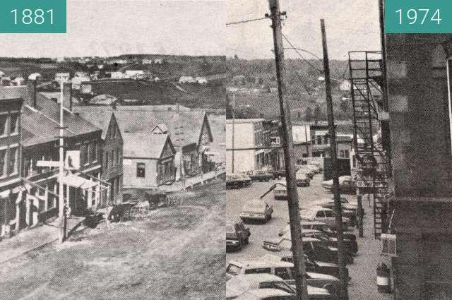 Vorher-Nachher-Bild von 1881 and 1974 Belfast, Maine zwischen 1881 und 1974