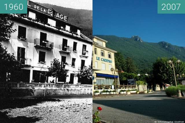 Before-and-after picture of Hôtel de la Plage - Résidence de la Plage between 1960 and 2007-May-19