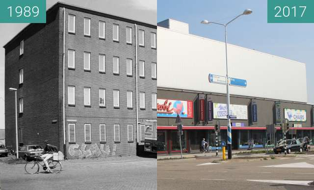 Before-and-after picture of Former warehouse becomes furniture store between 1989-Aug-18 and 2017-Aug-29