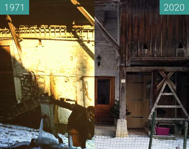 Before-and-after picture of le sappey between 01/1971 and 12/2020