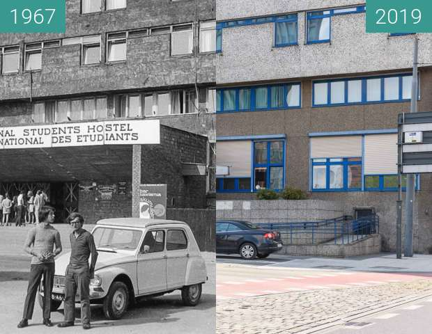 Before-and-after picture of Ulica Zwierzyniecka, DS Jowita, 1967-2019 between 1967 and 2019
