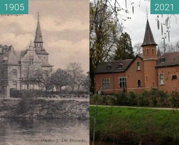 Before-and-after picture of Le paige 1892-2021 between 1905 and 2021-Apr-11