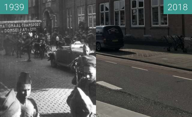 Before-and-after picture of Alkmaar Mobilization Dutch Soldiers between 1939 and 2018-Apr-11