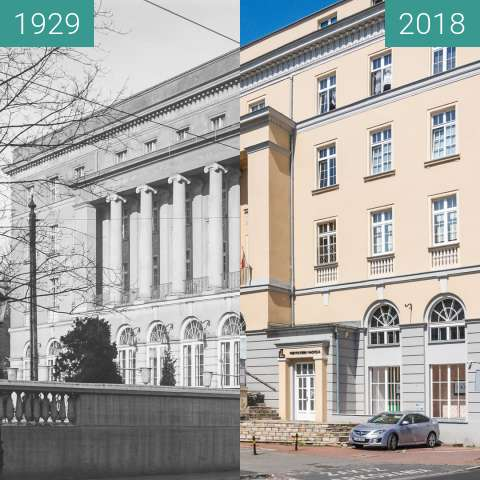 Before-and-after picture of Ulica Głogowska between 1929 and 2018