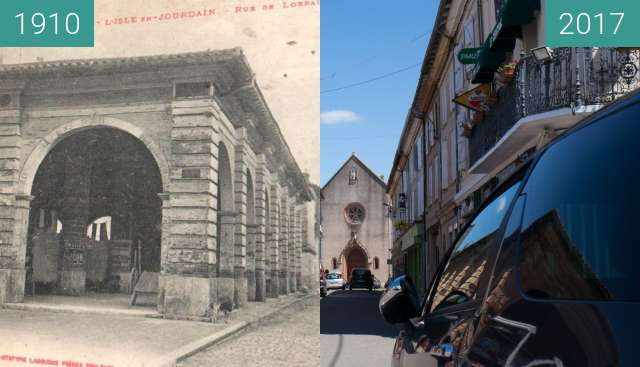 Before-and-after picture of Musée d'Art Campanaire between 1910 and 2017-Jun-07