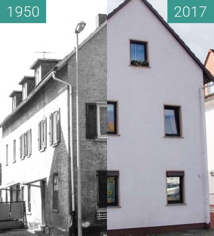 Before-and-after picture of Bad Homburg Gonzenheim, Frankfurter Landstr 140 between 1950 and 2017-Oct-03